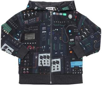Molo Mixer Print Cotton Sweatshirt Hoodie