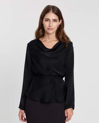 Dorothy Perkins Long Sleeve Cowl Neck Satin Top