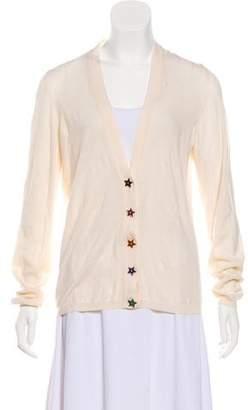 Saint Laurent Wool Long Sleeve Cardigan