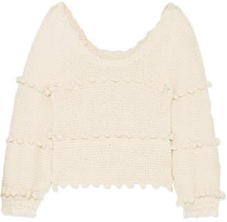 Apiece Apart Hyacinth Pompom-embellished Cotton Sweater - Cream