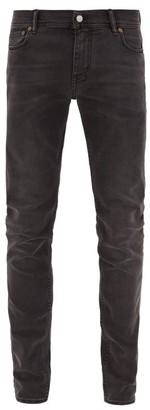 Acne Studios North Slim Leg Cotton Blend Jeans - Mens - Black