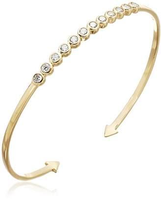 Shashi Bezel Cuff Bracelet