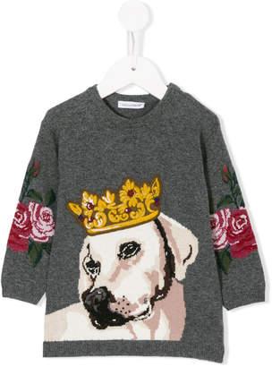 Dolce & Gabbana dog-intarsia sweater dress