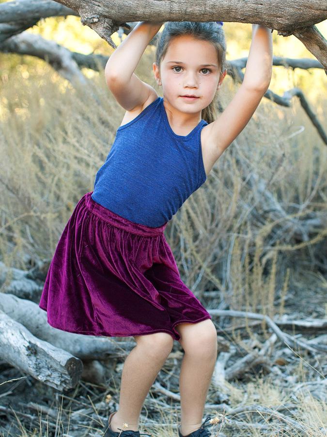 American Apparel Kids' Velvet Full Woven Skirt
