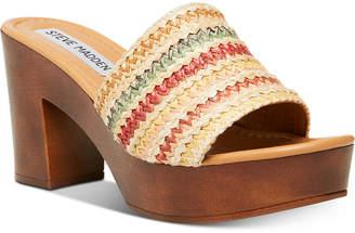 Steve Madden Women Fran Wooden Platform Sandals