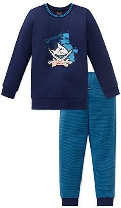 Schiesser Boy's Capt ́n Sharky Kn Anzug Lang Pyjama Sets, (Dark Blue 803), 6 Years