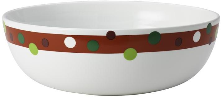Rachael Ray 10-in. Round Hoot's Decorated Tree Serving Bowl