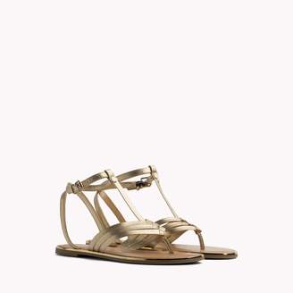 Tommy Hilfiger Metallic T-Strap Sandal