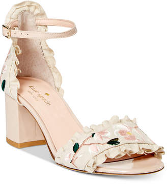 Kate Spade Wayne Embroidered Dress Sandals