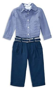 Ralph Lauren Boys' Button-Down Shirt, Seersucker Pants & Printed Belt Set - Baby