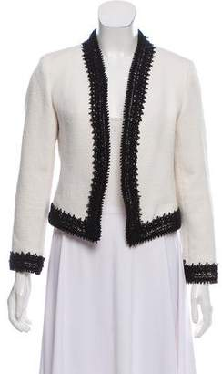 Alice + Olivia Cropped Lace-Trim Jacket