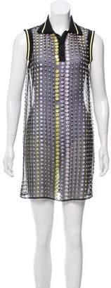 Versace Donna Sheer Mini Dress