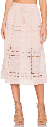 House of Harlow x REVOLVE Callie Midi Skirt $268 thestylecure.com