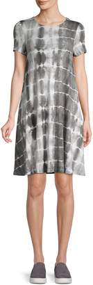 Lord & Taylor Tie-Dyed Stretch T-Shirt Dress