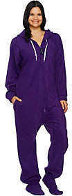 Forever Lazy Fleece Footed Adult Onesiewith Pockets