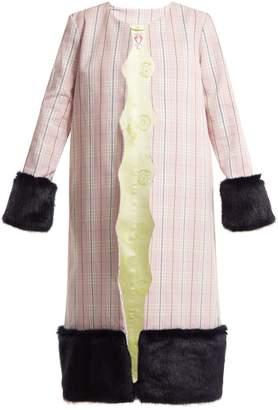 DAY Birger et Mikkelsen SHRIMPS Andrea contrast-panel checked cotton coat