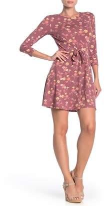 BeBop Floral Print Front Tie Dress