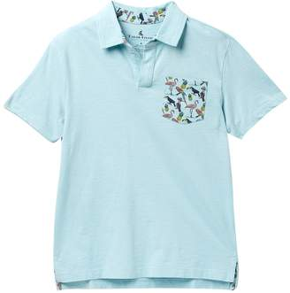Tailor Vintage Johnny Collar with Tropical Print Pocket (Big Boys)