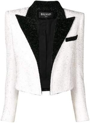 Balmain cropped tailored jacket