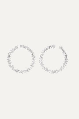 Suzanne Kalan Spiral 18-karat White Gold Diamond Hoop Earrings