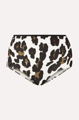 Solid & Striped The Brigitte Leopard-print Bikini Briefs - Leopard print
