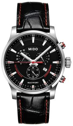 MIDO Mutltiford Chronograph Leather Strap Watch, 42mm