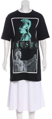 Fausto Puglisi Graphic Print Short Sleeve Top