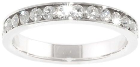 JCPenney Bridge Jewelry Pure Silver Plated Crystal Band