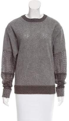 Prabal Gurung Mesh Sleeve Knit Sweater