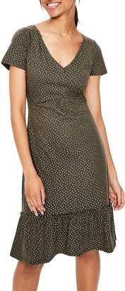 Boden Melissa Foiled Dot Jersey Dress