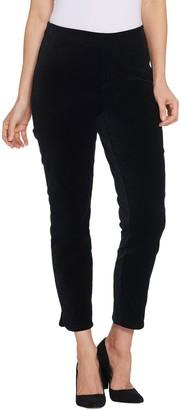 Isaac Mizrahi Live! Petite Velvet Ankle Pants with Tulip Hem