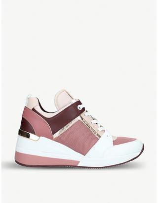 fd2e58c637d MICHAEL Michael Kors Georgie leather wedge trainers