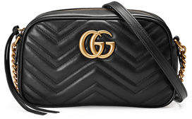 Gucci GG Marmont Small Quilted Camera Bag $1,200 thestylecure.com