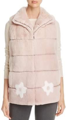 Maximilian Furs Floral Rabbit Fur Vest - 100% Exclusive