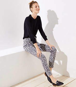 LOFT Petite Modern Skinny Jeans in Leopard Print