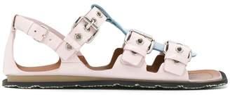 Miu Miu T-strap buckle sandals