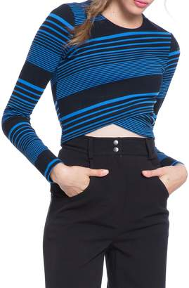 Plenty by Tracy Reese Women's Variated Stripe Knit Crop Top