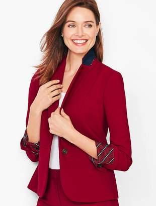 Talbots Italian Luxe Double-Cloth Peplum Blazer