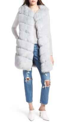 KENDALL + KYLIE Grooved Faux Fur Vest
