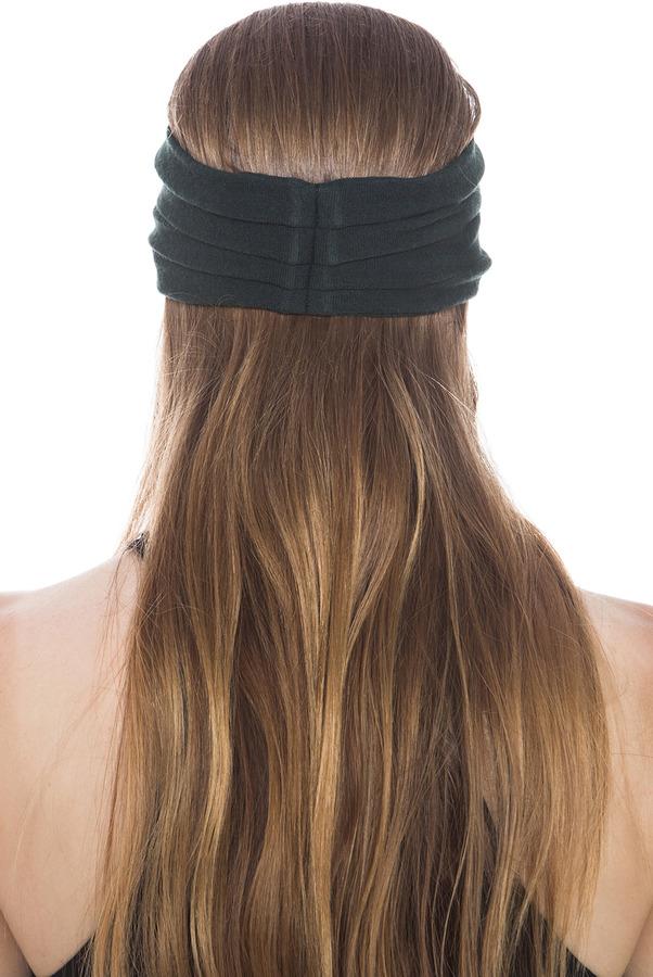 Eugenia Kim Chiara Wool Jersey Turban Headband in Hunter Green