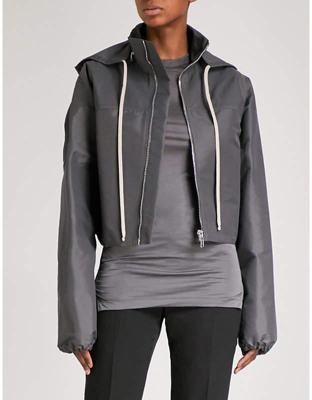 Cropped shell jacket