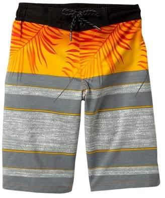 Trunks TONY HAWK Engineered Striped Palm Printed Board Shorts (Big Boys)