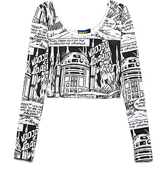 Forever 21 Say It Star Wars Crop Top