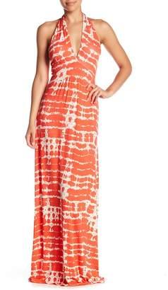 Loveappella Tie-Dye Halter Maxi Dress