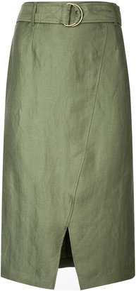 D-ring wrap front skirt