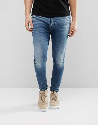 G Star G-Star D-Staq 3d Super Slim Jeans Medium Aged