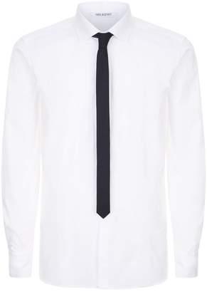 Neil Barrett Poplin Slim Tie Shirt