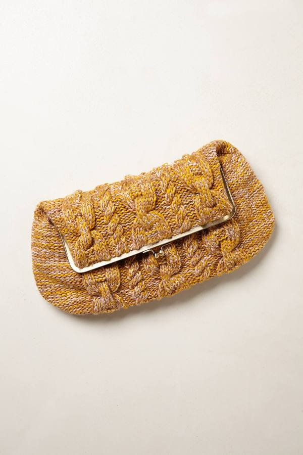 Anthropologie Marmalade Sweater Clutch