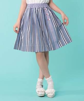 Kumikyoku (組曲) - 組曲KIDS 【150~160cm】ブロッキングストライプ スカート