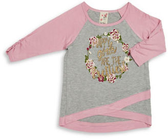 Lily Bleu Girls 2-6x Happy Girls are the Prettiest Top $26 thestylecure.com